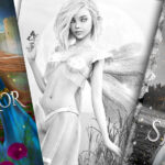 Bestselling Fantasy Series Beautiful Adult Grayscale Fantasy Coloring Pages