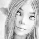 Free Fantasy Grayscale Coloring Pages Download PDFS