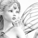 Beautiful Fairy Art Coloring Pages Instant Download